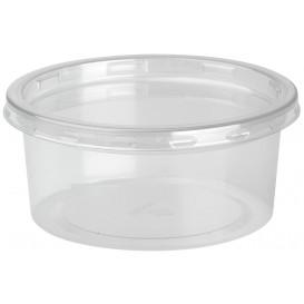 Behälter aus Plastik rPET DeliLite mit Deckel 7,6 oz/217ml (50 Stück)