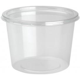 Behälter aus Plastik rPET DeliLite mit Deckel 24,6 Oz/700ml (300 Stück)