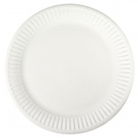 Papierteller weiß Ø18,5cm (100 Stück)