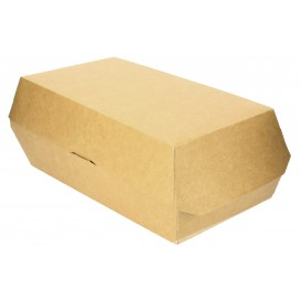 Verpackung für Sandwich Kraft 20x10x4cm (200 Stück)