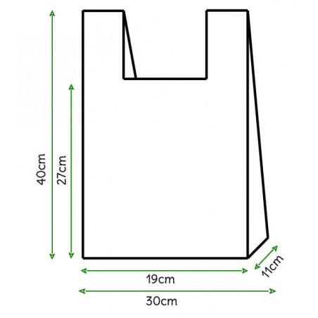 Hemdchenbeutel weiß 30x40cm (200 Stück)