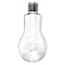 Glühbirnen-Flasche Transparent PET 200ml (25 Einh.)