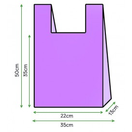 Hemdchenbeutel flieder 35x50cm (200 Stück)