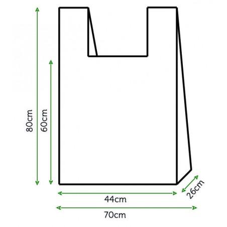 Hemdchenbeutel weiß 70x80cm (100 Stück)