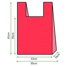 Hemdchenbeutel rot 35x50 cm (200 Stück)