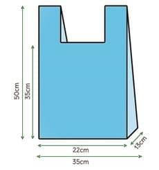 Hemdchenbeutel Blau 35x50cm (1000 Einh.)