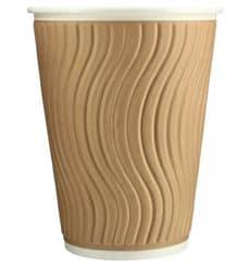 Biologischer Kaffeebecher aus Wellpappe 12Oz/403ml Ø8,5cm (37 Stück)