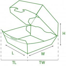 Hamburger Box Pappe XXL 14,5x14,5x8 cm (25 Stück)