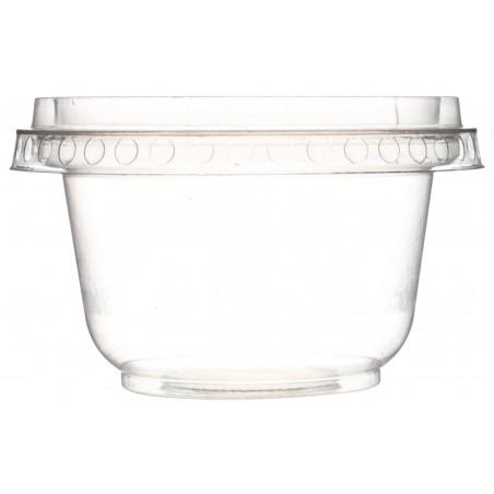 Deckel Flach ohne Loch für Dessertbecher PET 220ml Ø9,5cm (112 Stück)