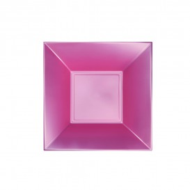Plastikteller Tiefe Rosa Nice Pearl PP 180mm (25 Stück)