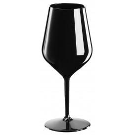 Sektflöte für Wein Tritan Wiederverwendbar Schwarz 470ml (1 Stück)