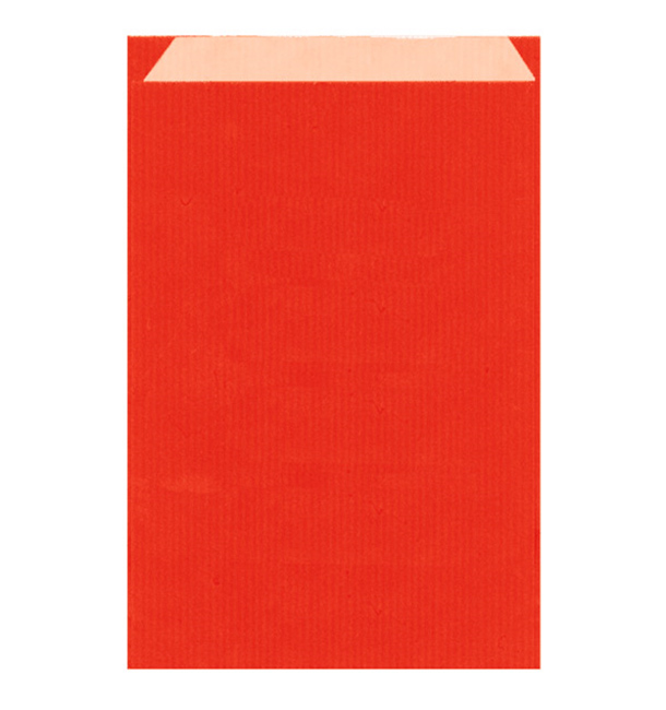 Papierumschlag Kraft Rot 19+8x35cm (125 Stück)