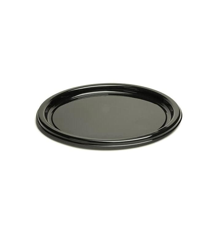 Plastikteller rund schwarz 18cm (25 Stück)