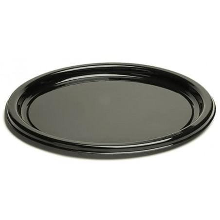 Plastikteller rund schwarz 18cm (250 Stück)