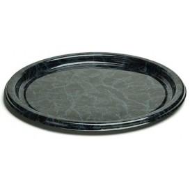 Plastikteller rund marmor 18cm (25 Stück)