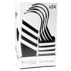Fingerfood Set Schwarz und Weiß 24 Stück (1 Set)