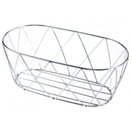 StahlKorb Oval Silber 255x127x102mm (1 Stück)