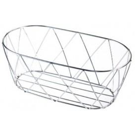 StahlKorb Oval Silber 255x127x102mm (12 Stück)