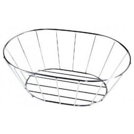 StahlKorb Oval Silber 216x140x76mm (1 Stück)