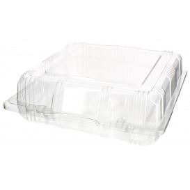 Klappbox PET für Gebäck 18x18x6cm (20 Stück)