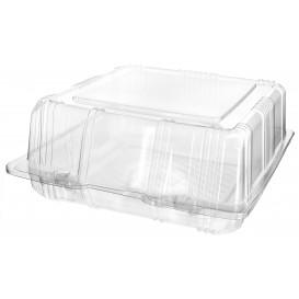 Klappbox PET für Gebäck 18x18x8cm (20 Stück)