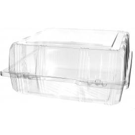 Klappbox PET für Gebäck 22x22x10cm (220 Stück)
