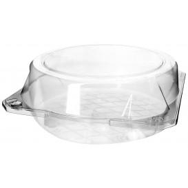Klappbox PET für Gebäck Ø20x8cm (23 Stück)