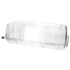 Klappbox PET für Gebäck 24x10x8cm (20 Stück)