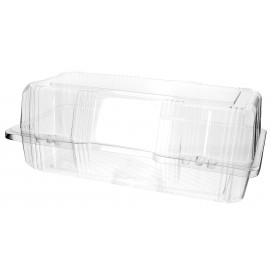 Klappbox Scharnier PET für Gebäck 26x13x10cm (220 Stück)