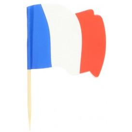 """Holzspieße Flagge """"Frankreich"""" 65mm (14.400 Einh.)"""