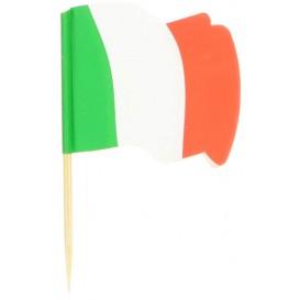 """Holzspieße Flagge """"Italien"""" 65mm (14.400 Einh.)"""