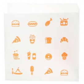"""Burgerpapier """"Saky Food"""" offen 2S 15x15cm (250 Stück)"""