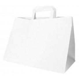 Papiertüten Weiß mit Henkeln 32+20x23cm (50 Stück)