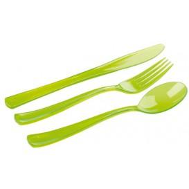 Besteckset Plastik 18-teilig grün (1 Set)