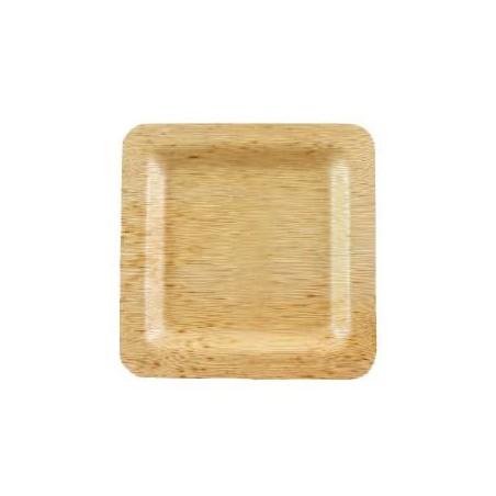 Teller Quadratisch aus Bambus 12x12x1cm (10 Stück)