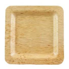 Teller Quadratisch aus Bambus 12x12x1cm (100 Stück)
