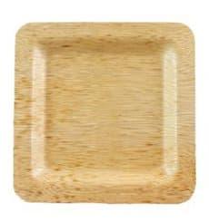 Teller Quadratisch aus Bambus 15x15x1cm (10 Stück)