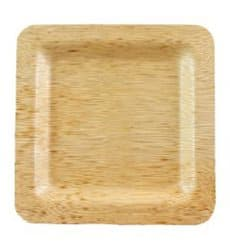 Teller Quadratisch aus Bambus 15x15x1cm (100 Stück)