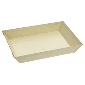 Tablett aus Holz 18x13x2,8cm 500ml (25 Stück)