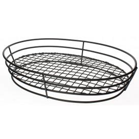 StahlKorb Oval Schwarz 280x205x57mm (1 Stück)