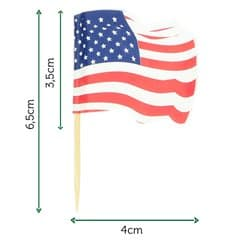 """Holzspieße Flagge """"USA"""" 65mm (14.400 Einh.)"""