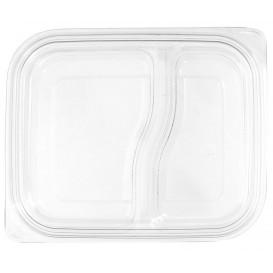 Deckel Flach für Plastikbehälter PET 18x15cm (75 Stück)