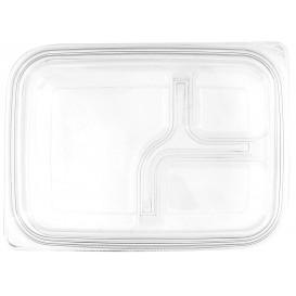 Deckel Flach für Plastikbehälter PET 22x16cm (75 Stück)