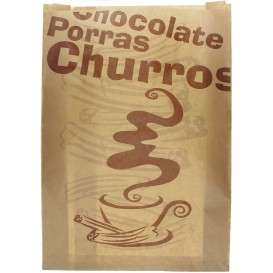"Beutel für Churros ""Chocolat"" 30+9x42cm (250 Stück)"