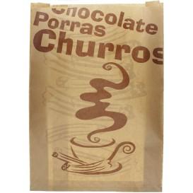 "Beutel für Churros ""Chocolat"" 30+9x42cm (1.000 Stück)"