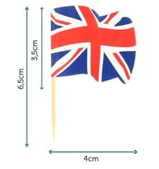 "Holzspieße Flagge ""UK"" 65mm (14.400 Einh.)"