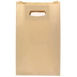 Papiertüten Kraft mit Griffloch 24+7x37cm (50 Stück)
