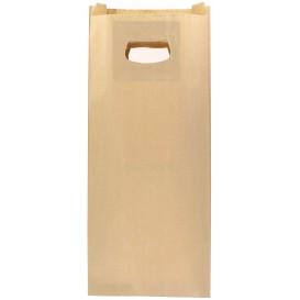Papiertüten Kraft mit Griffloch 18+6x32cm (50 Stück)