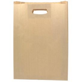 Papiertüten Kraft mit Griffloch 31+8x42cm (250 Stück)