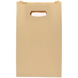 Papiertüten Hawanna mit Griffloch 24+7x37cm (50 Stück)